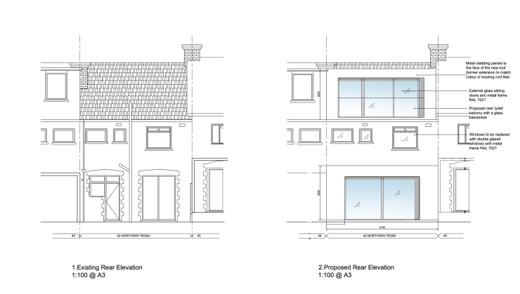 G:42 NorthwayPLANNING APPLICATIONS42 Northway - Roof Dormer E