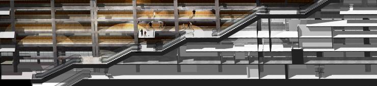 3d section-escalators